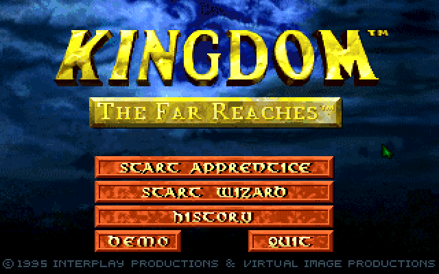 Kingdom the Far Reaches Main Menu