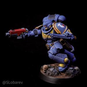 Ultramarines Primaris Assault Intercessor Sergeant by El Sabel