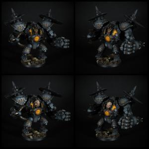 Warhammer 40k Maxmini Ork Warboss in Mech Armor by Green Brush